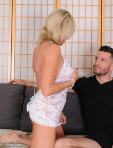 Sexually Excited  Blond Payton Hall Takes on Her Man's Big Dick in the Bedroom