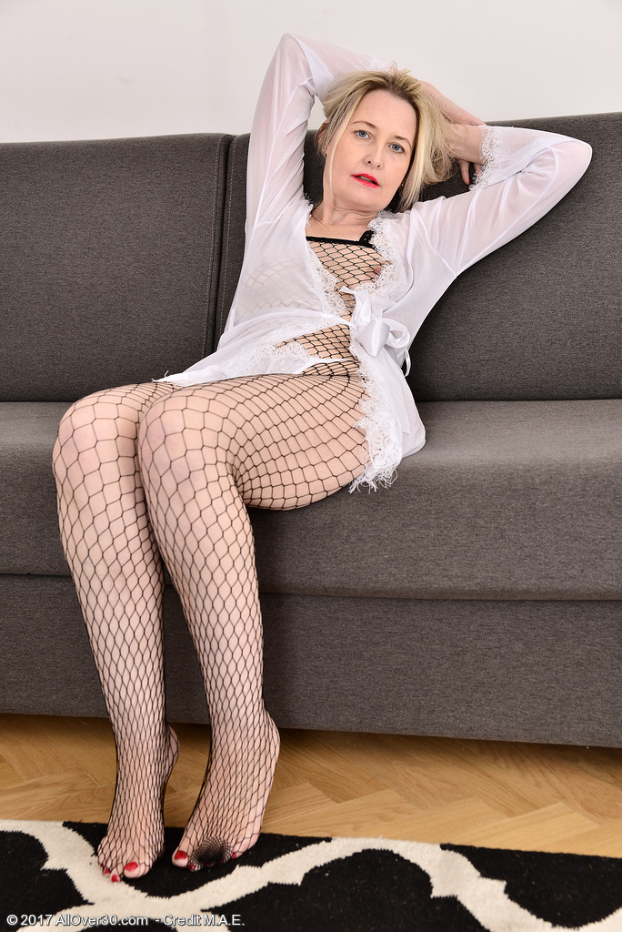 Emma Turner in Her Fishnet Gimp Costume