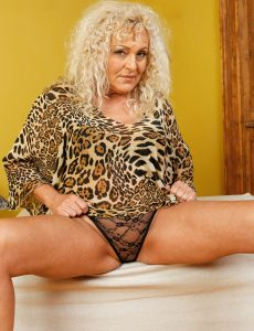 Big Breasted  Blond Haired Old Feminized Male