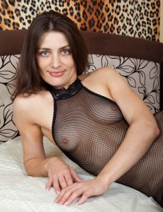 Sexy Egina in Her Fishnet System Stocking